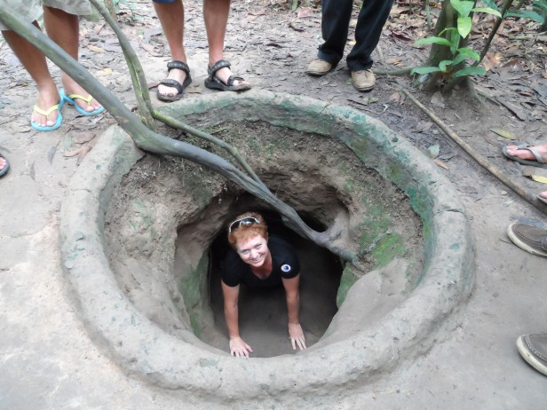 Cu Chi tunnels in Vietnam - it is incredible that people lived in these conditions