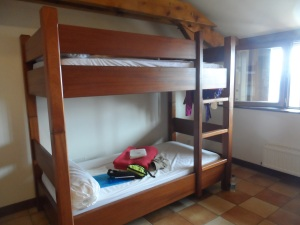 I haven't slept in a bunk bed for ...oh, so many years!