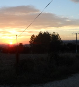 Another beautiful sunrise over the Camino!