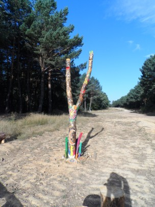 artwork on the Camino