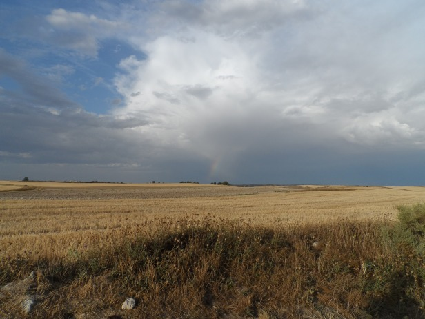 a rainbow in the distant sky...that's a sign!