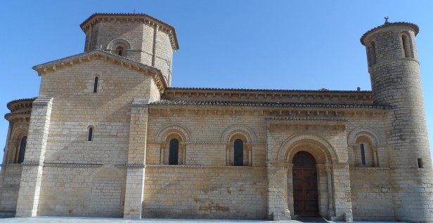 The church of San Martin with its round towers