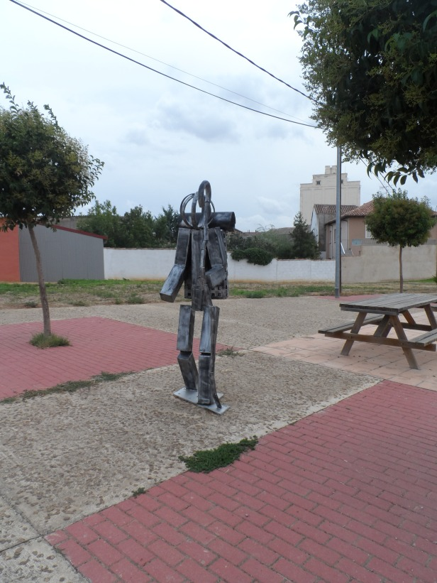 Sculpture on the Camino can be found in the most unexpected places