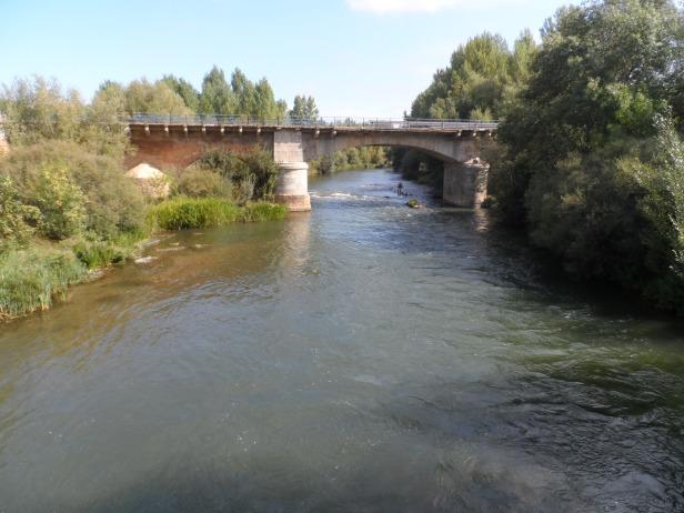 The river Porma at Puenta de Villarente