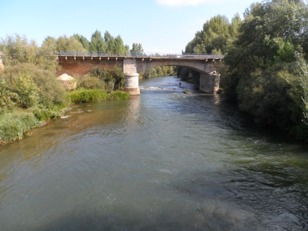 The river Porma at Puenta de Villarente
